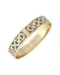 Cole Haan - Metallic 12k Gold Plated Logo Enamel Bangle - Lyst