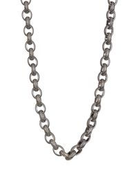 """Stephen Dweck - Metallic Sterling Silver Engraved Link Chain 18"""" Necklace - Lyst"""