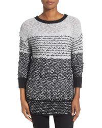 Caslon - Gray Drop Shoulder Tunic Sweater - Lyst
