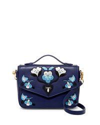Cynthia Rowley | Blue Layla Embroidered Crossbody | Lyst