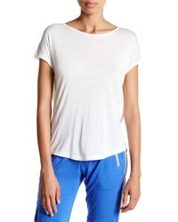 Apres Ramy Brook - White Ryanne Draped Back Tee - Lyst