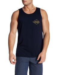 Rip Curl | Blue Scoop Neck Graphic Print Tank for Men | Lyst