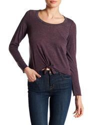 Chaser   Purple Knotted Long Sleeve Tee   Lyst