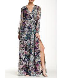 Diane von Furstenberg   Black Celia Printed Silk-chiffon Maxi Dress   Lyst