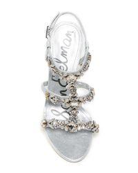 Sam Edelman - Metallic Selelna Embellished Sandal Pump - Lyst