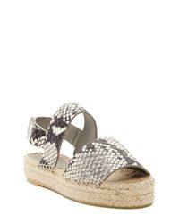 02cdb6addb9 Lyst - Vince Emilia Espadrille Platform Sandal in White