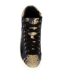 Sam Edelman | Blue Britt Genuine Calf Hair Sneaker | Lyst