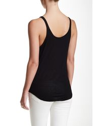 David Lerner - Black Slim Rib Detail Tank - Lyst