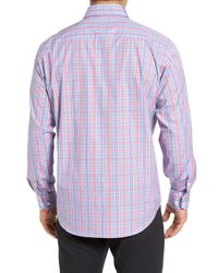 Bugatchi - Blue Classic Fit Sport Shirt for Men - Lyst