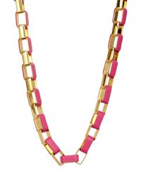 Diane von Furstenberg - Multicolor Gabby Leather Wrapped Link Necklace - Lyst