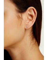 Meira T - Multicolor 14k Yellow Gold Diamond Bar & Chain Earrings - 0.12 Ctw - Lyst
