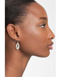 Simon Sebbag - Metallic Sterling Silver Mini Hammered Open Teardrop Earrings - Lyst