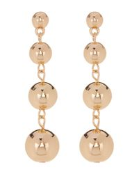 Sparkling Sage | Metallic Graduated Ball Drop Earrings | Lyst