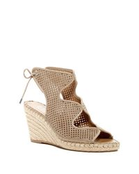 Franco Sarto   Multicolor Perforated Wedge Sandal   Lyst