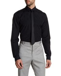 Versace | Black Long Sleeve Trim Fit Woven Shirt for Men | Lyst