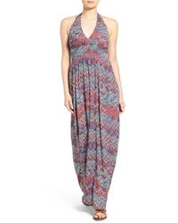 Ella Moss | Multicolor Kaliso Halter Maxi Dress | Lyst