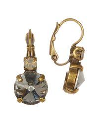 Sorrelli | Gray Swarovski Crystal Drop Earrings | Lyst