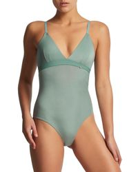Elle Macpherson - Green 'the Body' Bodysuit - Lyst