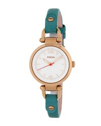 Fossil | Multicolor Women's Georgia Leather Watch | Lyst