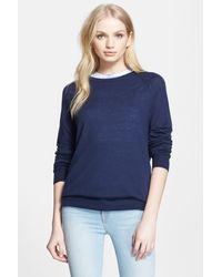 Equipment - Blue Sloane Wool Blend Sweater - Lyst