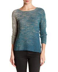 NIC+ZOE   Blue Knit Sweater   Lyst