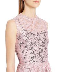 Dolce & Gabbana - Pink Drape Lace Sheath Dress - Lyst