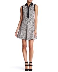 Betsey Johnson | Multicolor Lace Fit & Flare Shirt Dress | Lyst