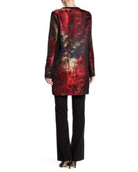T Tahari - Red Lanie Long Jacket - Lyst