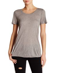 The Kooples - Gray Flecked Effect Tee - Lyst