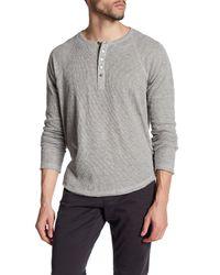 Joe's Jeans | Gray Sebastian Long Sleeve Knit Henley for Men | Lyst