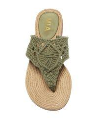 MIA - Green Nefeli Thong Sandal - Lyst
