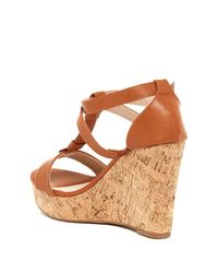 Elegant Footwear - Brown Gretta Studded Wedge Sandal - Lyst