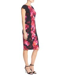 Maggy London - Multicolor Lace & Crepe Sheath Dress - Lyst