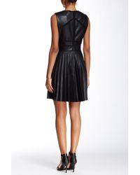 L.A.M.B. - Black Bonded Pleather Dress - Lyst