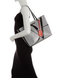 Diane von Furstenberg | Black Sutra Ready To Go Checkered Leather Tote | Lyst