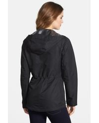 Vince Camuto | Black Ripstop Front Zip Hooded Jacket (regular & Petite) | Lyst