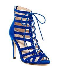 Catherine Malandrino - Blue Hancie Lace-up Sandal - Lyst