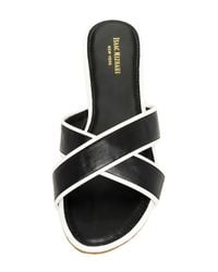Isaac Mizrahi New York - Black Crossover Strap Sandal - Lyst