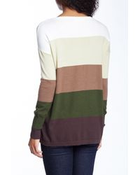 Love Stitch - Green Colorblock Striped Sweater - Lyst