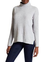 Joseph A | Gray Turtleneck Popcorn Knit Sweater | Lyst