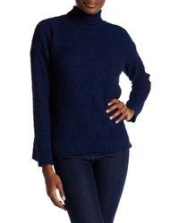 Joseph A   Blue Turtleneck Popcorn Knit Sweater   Lyst