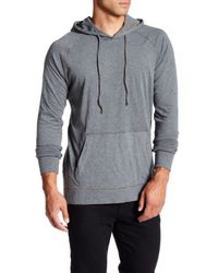 Jeremiah | Gray Blaine Double Layer Jersey Hoodie for Men | Lyst