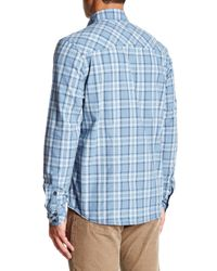 Jeremiah - Blue Jordan Plain Weave Plaid Shirt for Men - Lyst