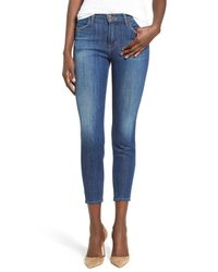 J Brand | Blue Alana High Rise Crop Skinny Jeans | Lyst