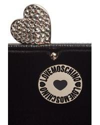 Love Moschino - Black Love Box Clutch - Lyst