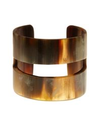 Joe Fresh - Gray Brown Wide Cuff Bracelet - Lyst