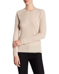 In Cashmere | Natural Cashmere Cable Knit Pullover Sweater | Lyst
