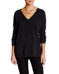 In Cashmere - Black Cashmere V-neck Pullover - Lyst