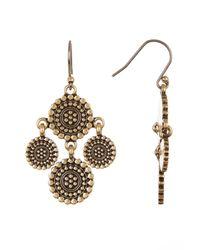 Lucky Brand - Multicolor Medallion Chandelier Earrings - Lyst