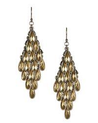 Lucky Brand - Metallic Two-tone Drop Earrings - Lyst